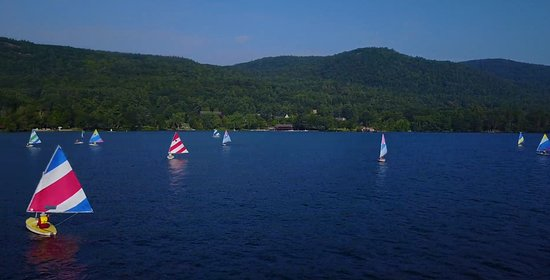 The water really is that blue at Silver Bay.  Try your hand at sailing - if you don't know how, we offer lessons.
