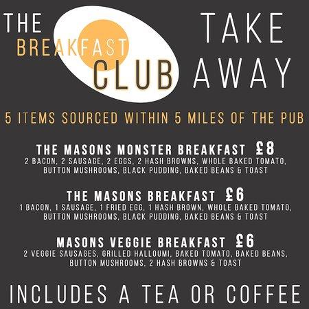 take away breakfast menu