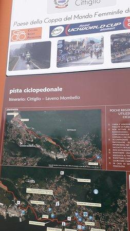 Pista Ciclo-Pedonale Cittiglio - Laveno Mombello: Insegna