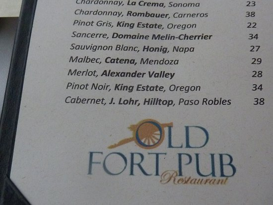 Old Fort Pub Restaurant: Old Fort Pub