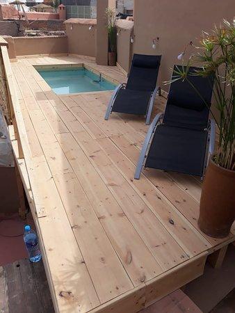 New Pool in the Roof Top terrace at Riad Jnan El Cadi Marrakech :) !