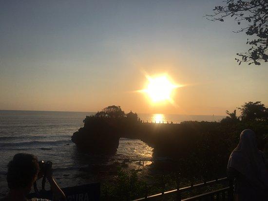 Stunning sunset beach view