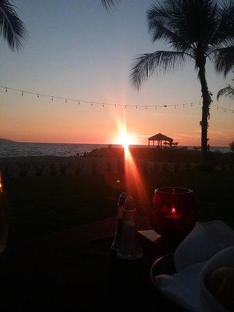 An amazing sunset from the La Veranda