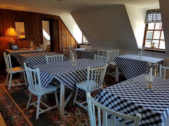 Mobjack Bay Coffee Roasters upstairs dining room, Yorktown,Virginia