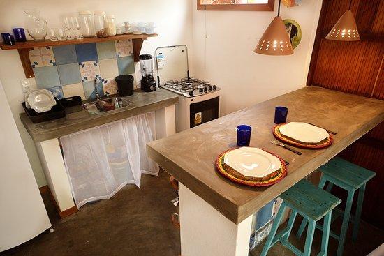 Bo'a Village: Cozinha Bungalow Azul