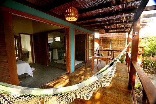 Bo'a Village: Varanda ampla Bungalow Verde