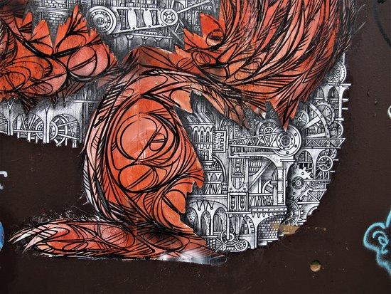 """Fresque """"Ecureuil roux"""""""
