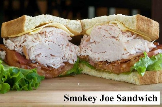 Hob Nobs Foods & Spirits: Our Smokey Joe Sandwich.  All sandwiches are also available as wraps.