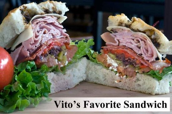 Hob Nobs Foods & Spirits: Our Vito's Favorite Sandwich.  All sandwiches are also available as wraps.