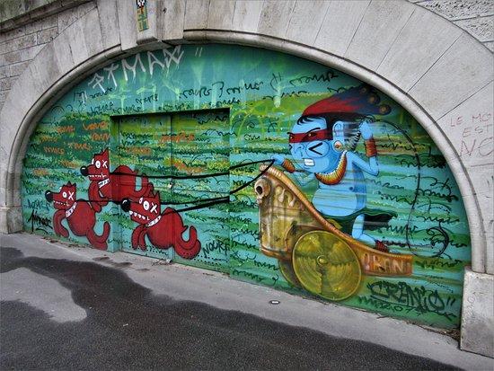"Fresque ""Char romain"""