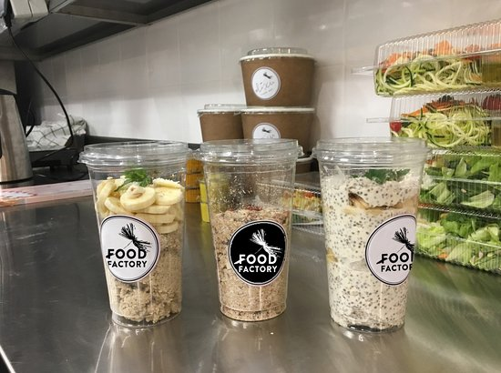 Food Factory: assortment of ready meals to go