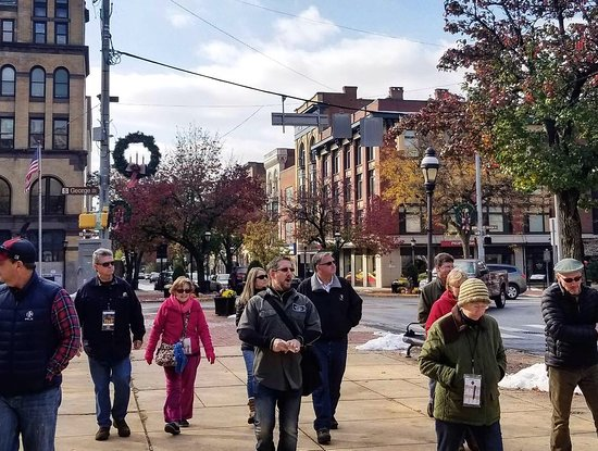 York County Ale Trail: Walking in downtown York.