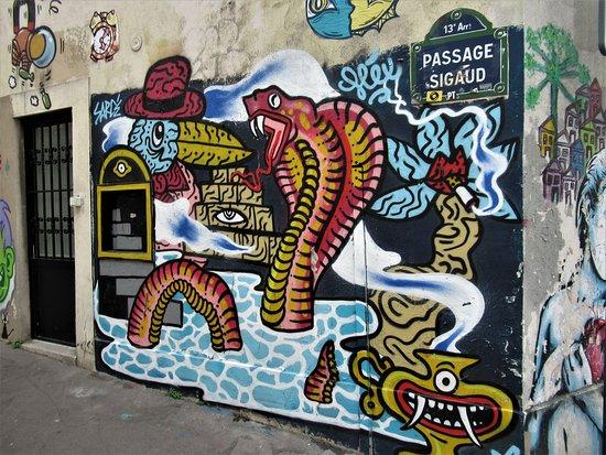 """Fresque """"Cobra et oiseau"""""""