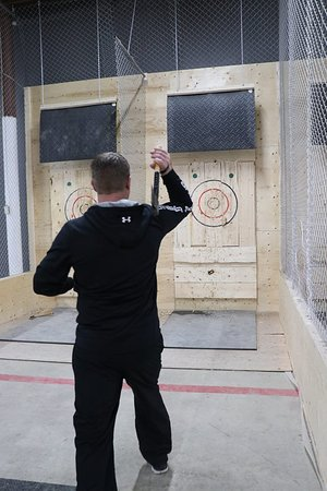 Not me, but a friend throwing at Lindsay Axe Club.