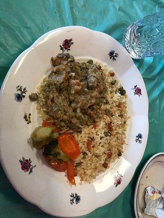 Budapest Bistro: Chicken ragu with rice