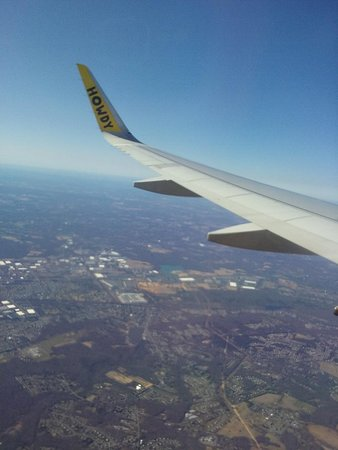 Spirit Airlines: This is a shot from my seat-  laughed every time I looked out the window and seen Howdy on wing....too funny