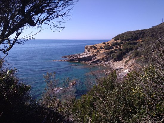 """""""Cala San Quirico"""" seen from the south side."""