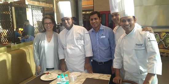 The amazing team at the Sheraton Hyderabad!
