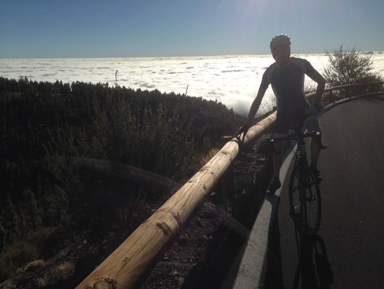 Its great riding above the clouds, in nice sunshine