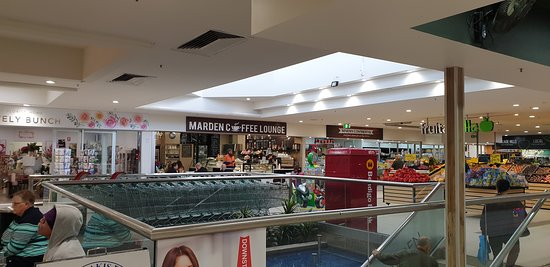 Marden Shopping Centre shopping court outside Woolies