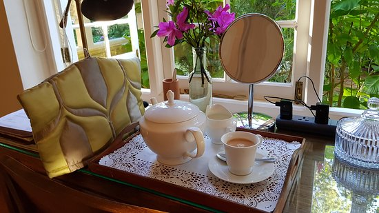 Wake up pot of tea served in your room