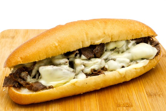 """Bradley's Cheesesteaks & Hoagies: Ribeye beef cooked on our flat top grill with your choice of cheese and toppings. Served on an 8"""" Italian roll, delivered fresh daily straight 'outta Philadelphia."""