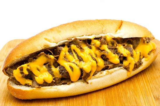 """Bradley's Cheesesteaks & Hoagies: Ribeye beef cooked on our flat top grill with your choice of cheese and toppings (Try the real Kraft Cheez Whiz). Served on an 8"""" Italian roll, delivered fresh daily straight 'outta Philadelphia."""
