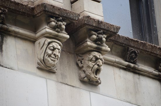 Faces on buildings