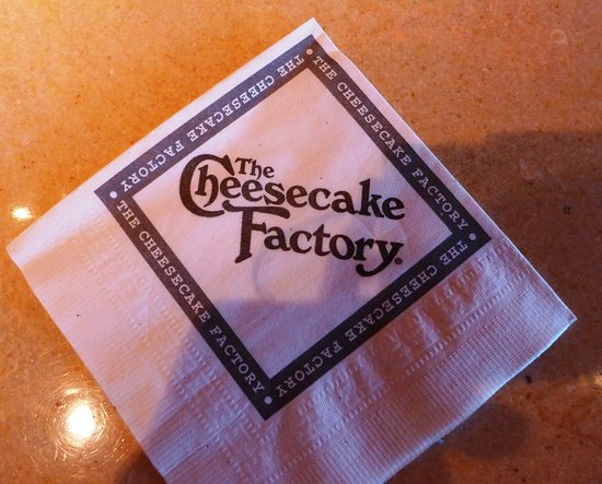 The Cheesecake Factory: The paper napkin