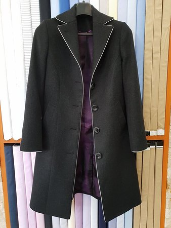 Fiorenzo Tailor: Customized Overcoat with Silver trimming