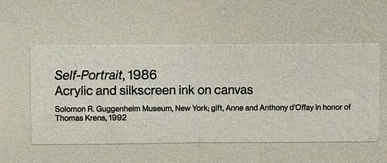 Whitney Museum of American Art Admission Ticket: Self portrait detail