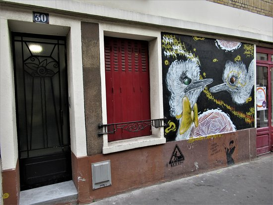 "Fresque ""Autruches folies-1"""