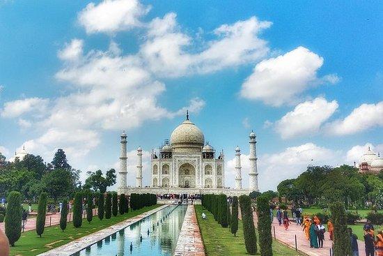 Tajmahal og Agra med Express tog