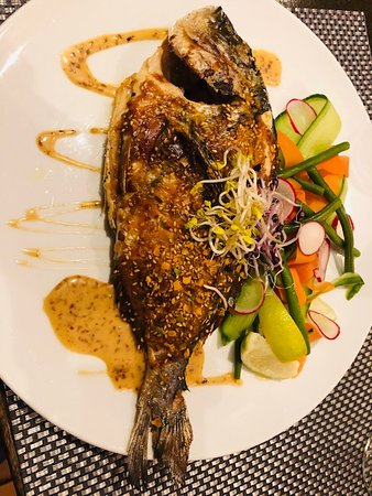 grilled Dorade served like this
