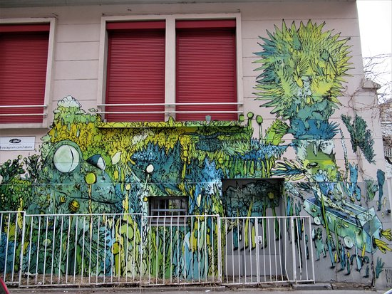 "Fresque ""Grenouille et escargot"""