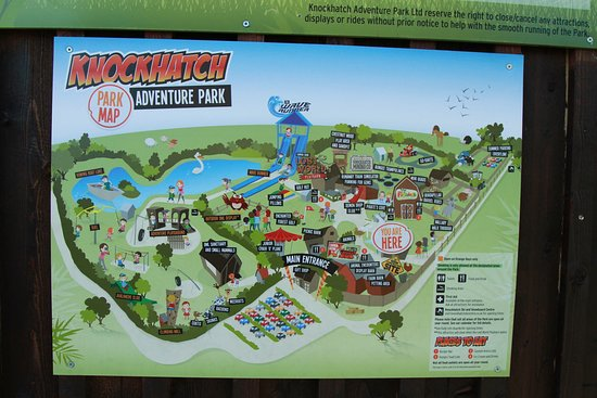 Knockhatch Adventure Park: Map of site