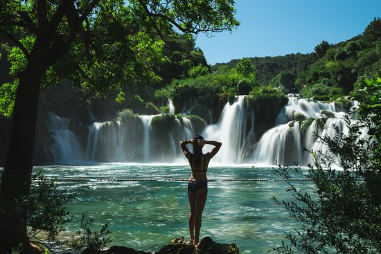 Krka Falls, early before the crowds arrive!