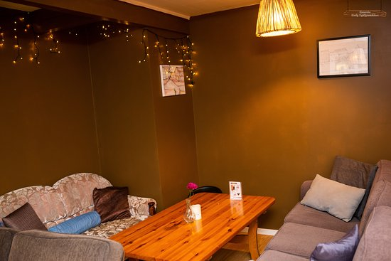 Koselig Cafe has two large rooms where you can enjoy yourself.