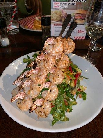 Thai crispy noodle shrimp salad (gluten free option so no noodle