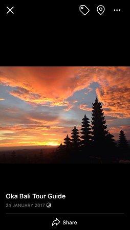 Besakih temple sunset