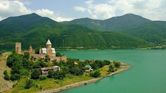 Ananuri church and Zhinvali reservoir