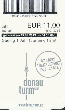 Donauturm: Eintritt