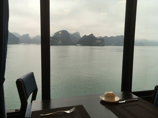 Oasis Bay Party Cruise - Halong Bay: view from the breakfast room