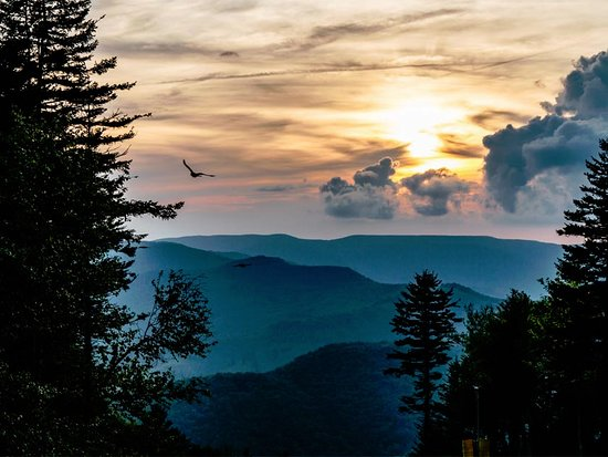 Nature's Mountain Playground - Pocahontas County: Breathtaking sunsets can be caught almost daily at Snowshoe Mountain Resort.