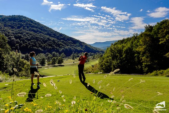 Nature's Mountain Playground - Pocahontas County: Enjoy golfing at the Raven Golf Club at the base of Snowshoe Mountain Resort.