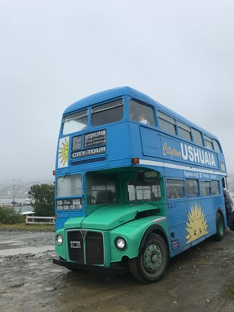 Our bus on the rainy day.