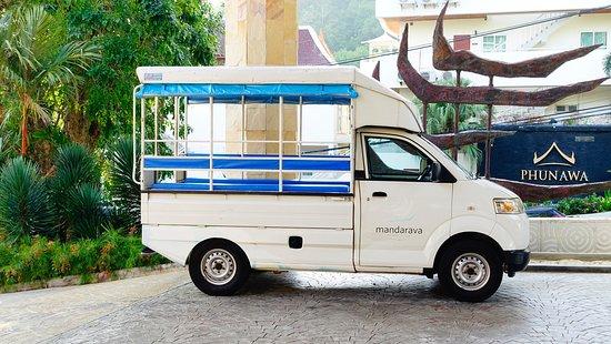 Mandarava Resort and Spa: Tuk-tuk de l'hôtel pour aller à Karon plage (gratuit/ 5 fois par jour).