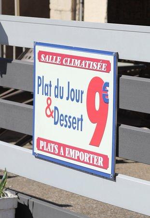 Plat du jour et dessert à 9 euros