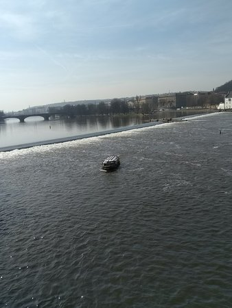Ferry going across from Buda to Pest