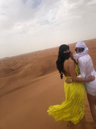 Premium Red Dunes & Camel Safari with BBQ at Al Khayma Camp by OceanAir™️: Our guide took the best photos of us